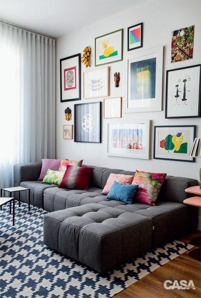 como escolher almofadas para um sof cinza clique arquitetura seu portal de ideias e solu es. Black Bedroom Furniture Sets. Home Design Ideas