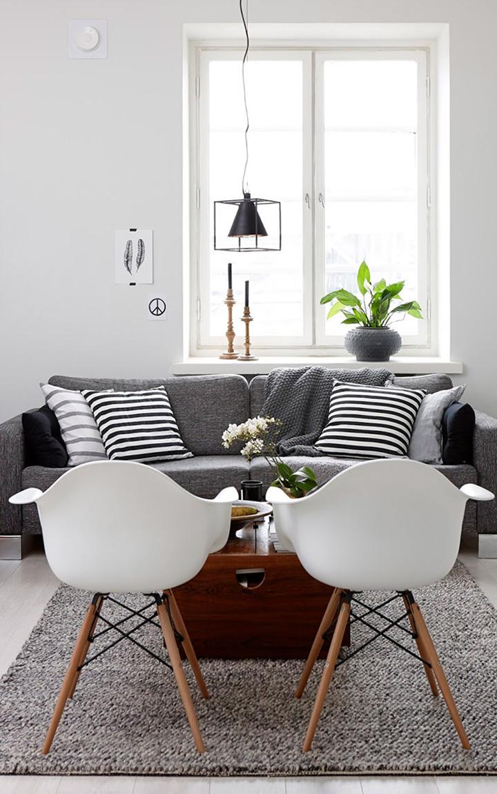 Como escolher almofadas para um sof cinza clique for W and p design