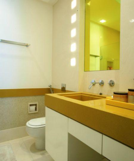 Bancadas de banheiro e lavabo clique arquitetura seu for Altura de lavabo