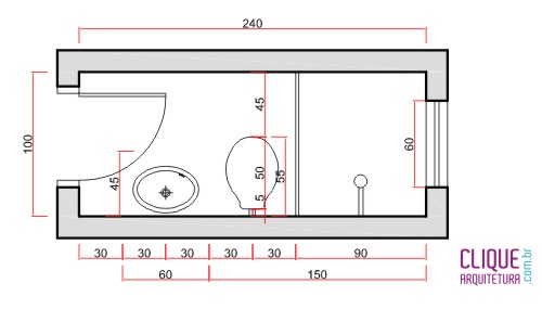 banheiro ergonomia circula o clique arquitetura On box de ducha medidas