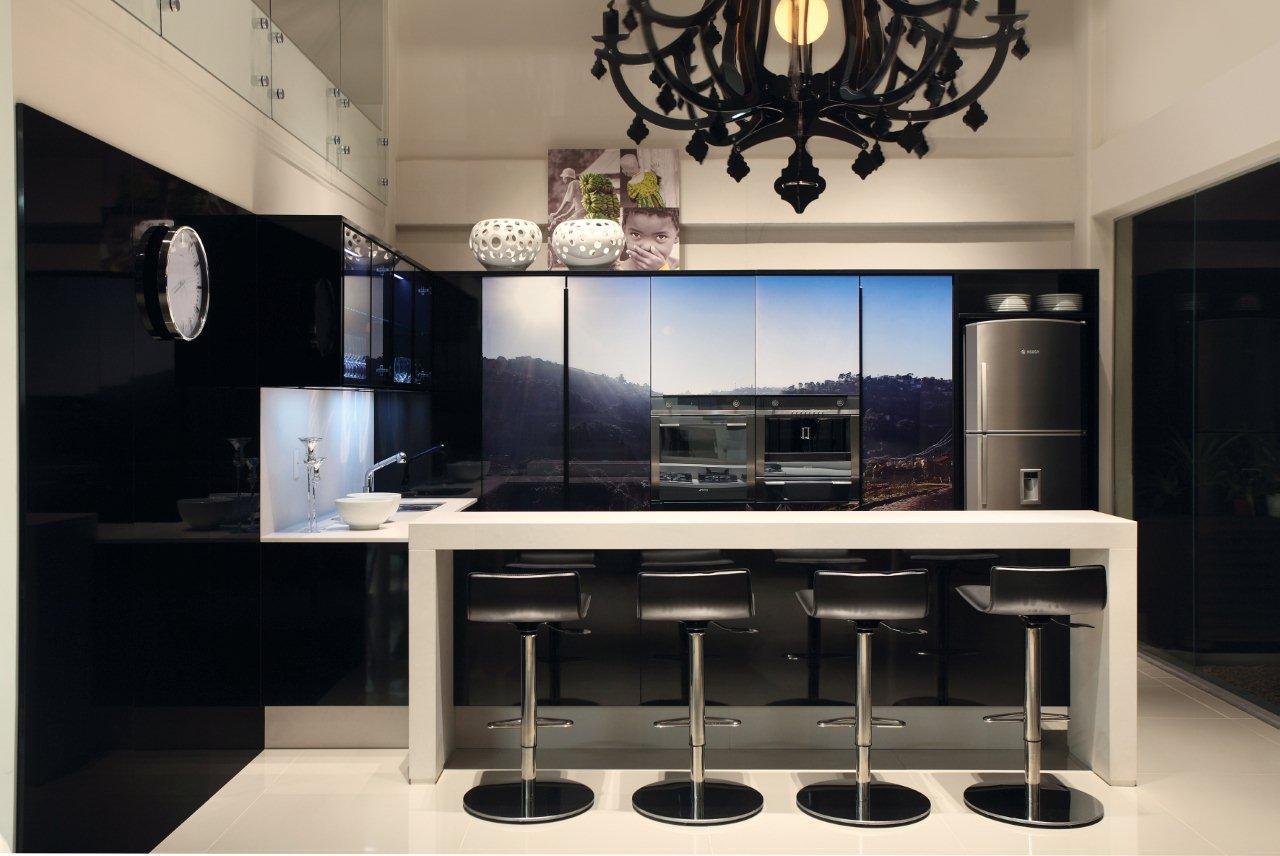 Preto Inspire Se Com Sete Cozinhas Monocrom Ticas Clique