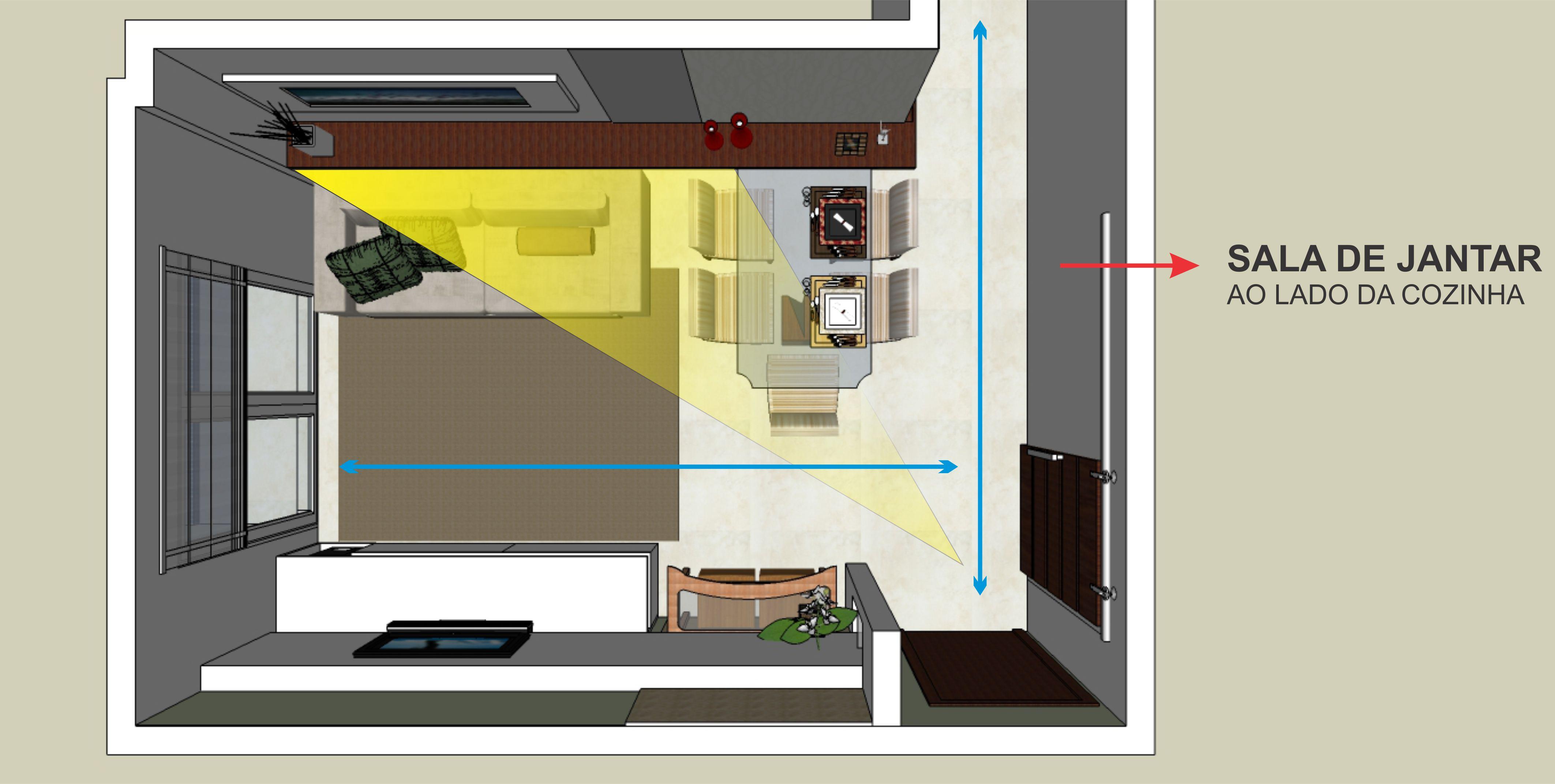 Quadros Na Decora O De Salas Clique Arquitetura Seu Portal De  -> Sala De Tv Tamanho
