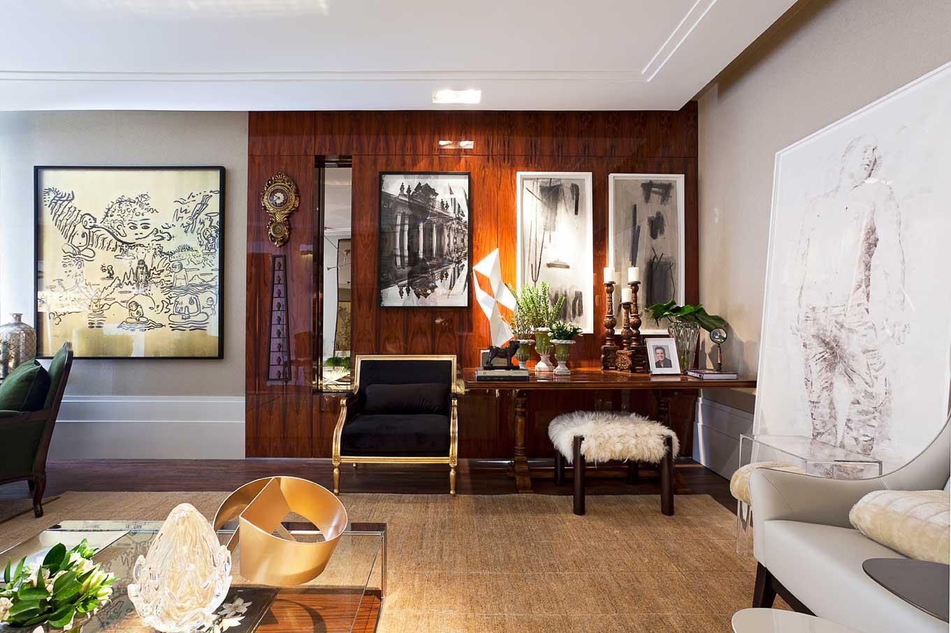 Quadros Na Decora O De Salas Clique Arquitetura Seu Portal De  -> Quadros De Parede Para Sala De Estar