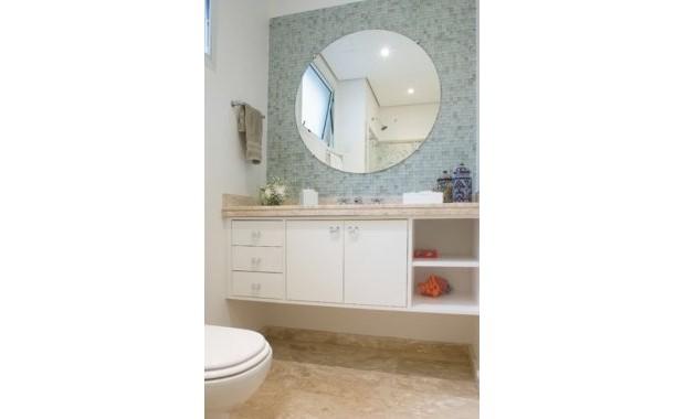 decorar lavabos redondos : decorar lavabos redondos:Banheiros e lavabos com espelho redondo