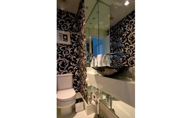 decoracao lavabo papel de parede : decoracao lavabo papel de parede:Decoração De Lavabos Com Papel De Parede Dicas E Fotos 5 Pictures to