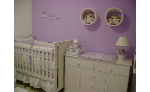 Quarto de Bebê  Lilás  Ideal  Clique Arquitetura