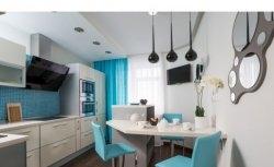 Cozinha azul e branca | Archdizart