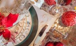 Elegância e sofisticação na mesa de Natal