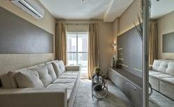 Pequeno apartamento decorado pelo Estúdio Campetti