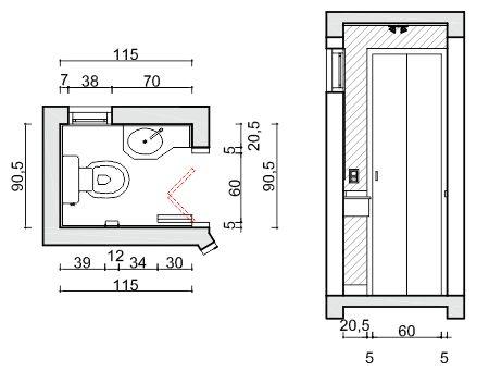 Porta articulada ou porta camar o clique arquitetura for Medidas de lavabos