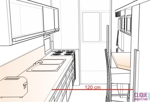 Aparador Amarelo Laqueado ~ Cozinha Ergonomia& Circulaç u00e3o Clique Arquitetura Seu portal de Ideias e Soluções