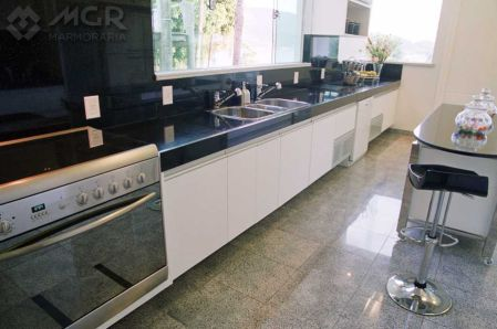 Bancadas de Cozinha em Granito Preto Absoluto - Clique ... - photo#17