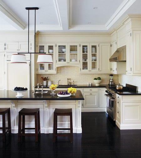 Oak Kitchen Black Floor: Decoração De Cozinha: Como Escolher As Banquetas