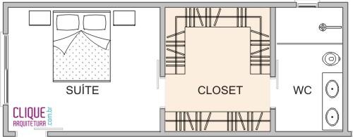 Closet Aspectos Construtivos  Clique Arquitetura -> Planta Baixa De Banheiro Com Banheira E Closet