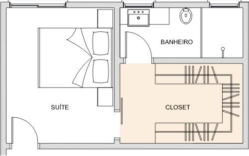 Closet Aspectos Construtivos  Clique Arquitetura -> Banheiro Pequeno Planta Baixa