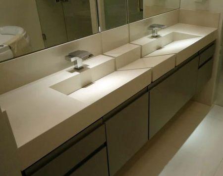 Bancada banheiro porcelanato preço