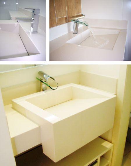 Bancadas de Banheiro e Lavabo  Clique Arquitetura -> Cuba Para Banheiro De Embutir