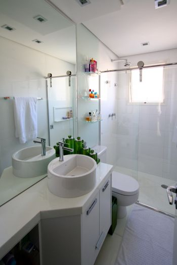 Como Escolher o Espelho do Banheiro  Clique Arquitetura -> Banheiro Com Pastilha Embaixo Do Espelho