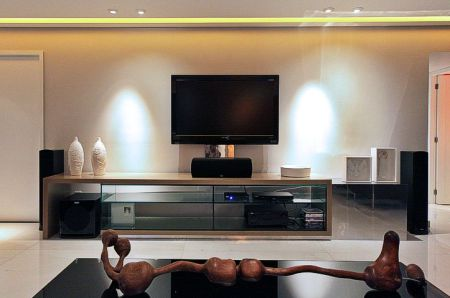 Home theater como planejar clique arquitetura seu portal de ideias e solu es - Sala home theatre ...