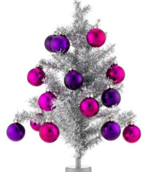 decoracao de arvore de natal azul e prata: árvore :: com galhos